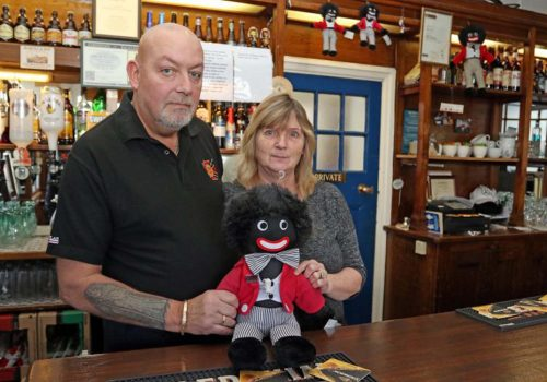 Pub owner rejects removing Golliwog dolls despite racist claims