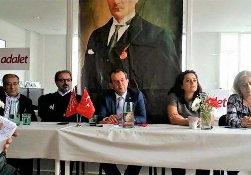CHP Tanju Özcan met with London's voters