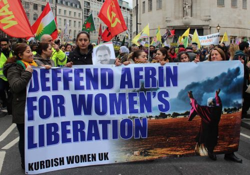 London protested the operation in Afrin