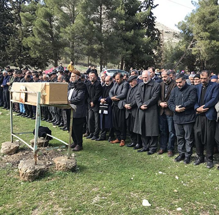 Hasan Özcan was buried in his hometown
