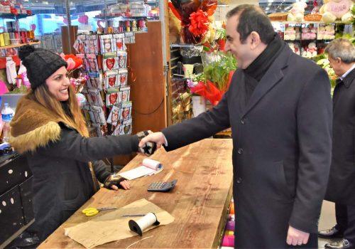 Başkonsolos Ergin esnafı ziyaret etti