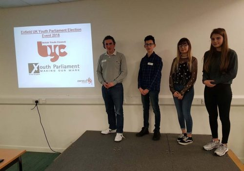 Enfield's new UK Youth Parliament representatives