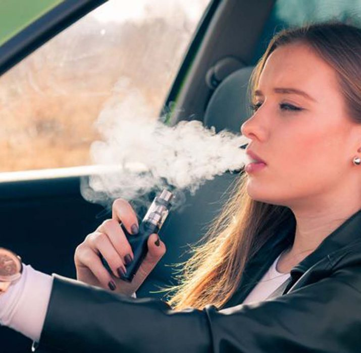 Smoking e-cigarettes behind the wheel could cost your licence