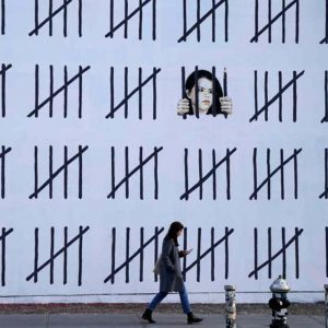 70ft Banksy mural dedicated to jailed Turkish artist