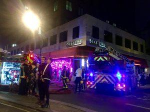 Merkez Londra'da korkutan yangın