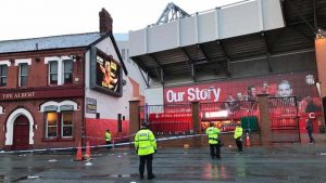 Man critical after Anfield attack before Liverpool-Roma clash