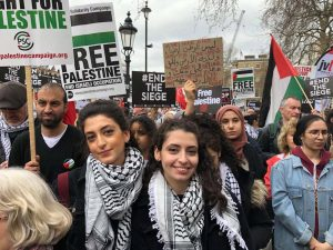 Londra'da Filistin'e destek gösterisi