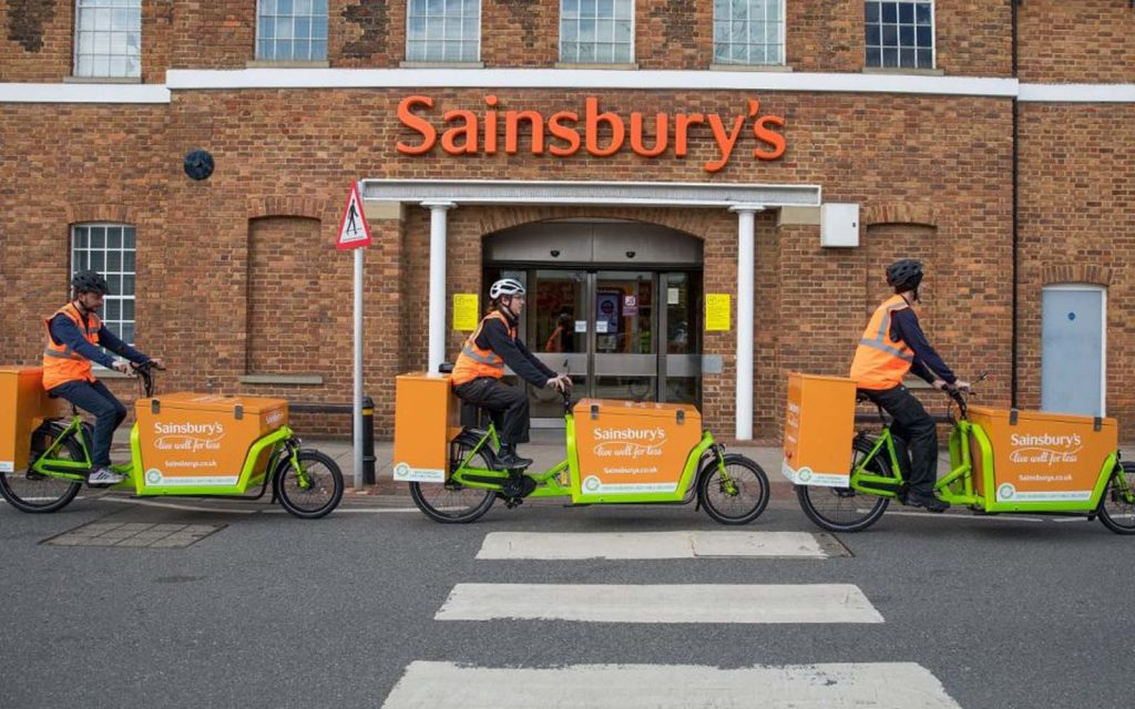 UK's first electric delivery bike in South London