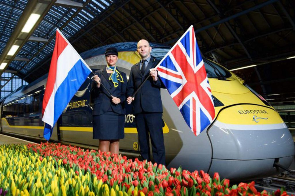 First ever London to Amsterdam Eurostar service sets off
