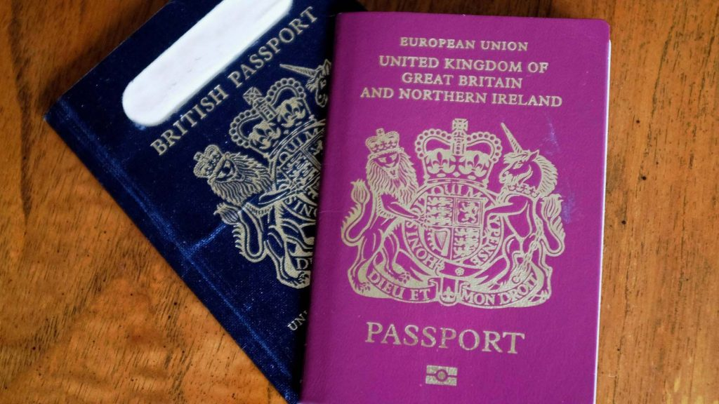 UK blue passports will be produced in France