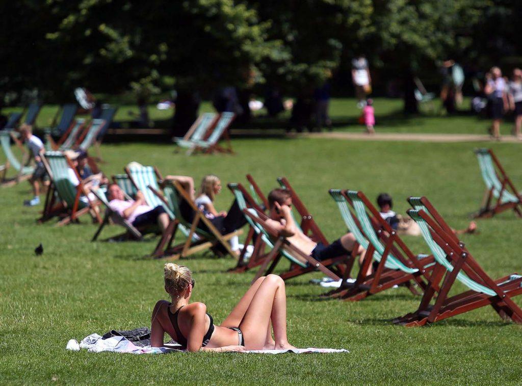 April heatwave hits London