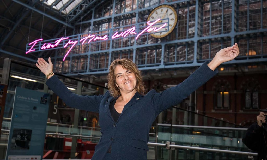 Tracey Emin's neon sign is up