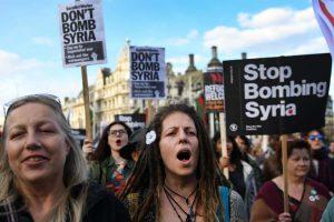 Hava operasyonu protesto edildi