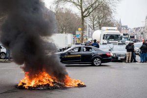 Uber Brüksel'de protesto edildi