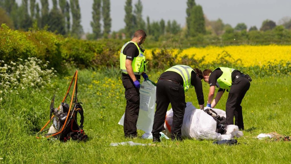 Paraglider dies and another injured in mid-air crash near Peterborough