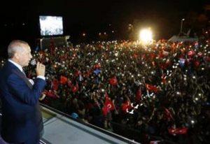 Cumhurbaşkanlığı hükümet sisteminin ilk lideri Erdoğan
