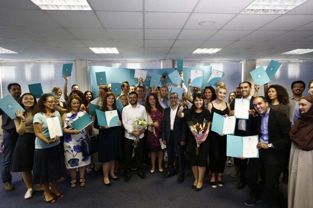 Londra'da Türkçe Kursu sertifika töreni