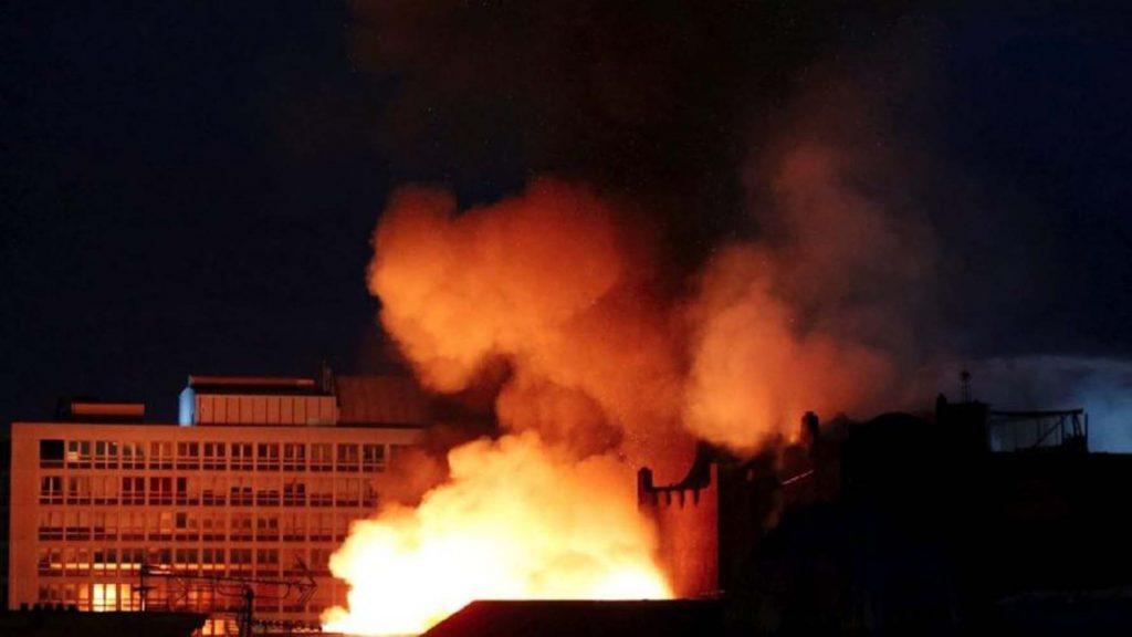 İskoç üniversitesinde korkutan yangın