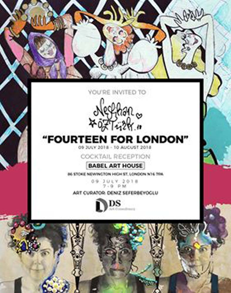 Neslihan Öztürk'ten 'Fourteen of London' sergisi