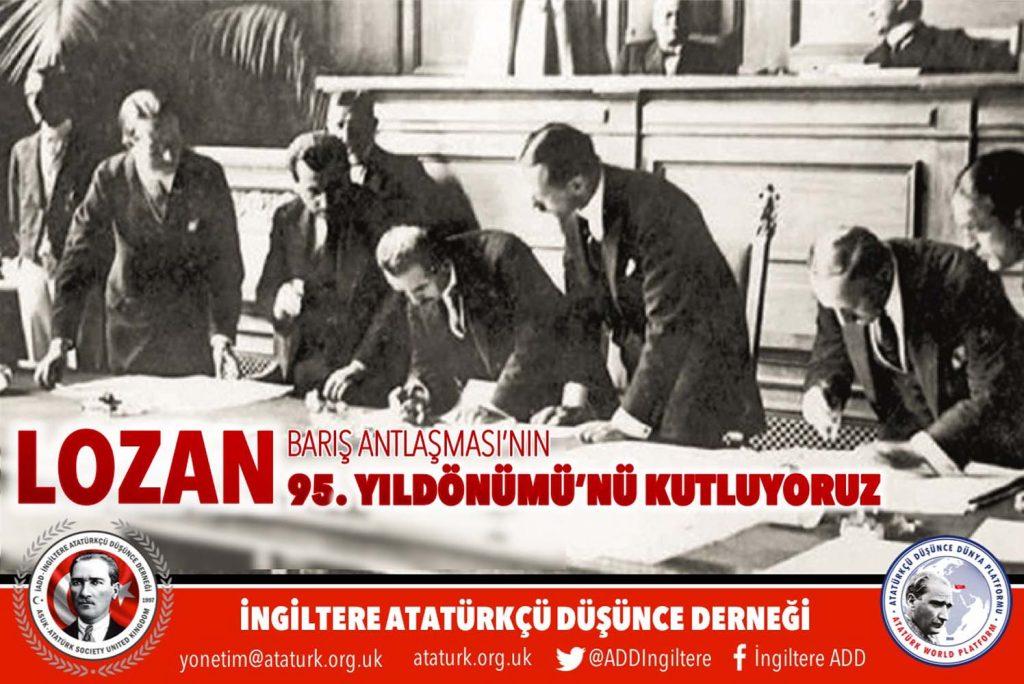 """""""Türkiye Cumhuriyeti'nin tapu senedi Lozan onurumuzdur"""""""