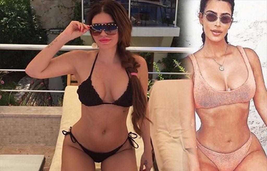 Ebru Polat'tan Kim Kardashian pozu