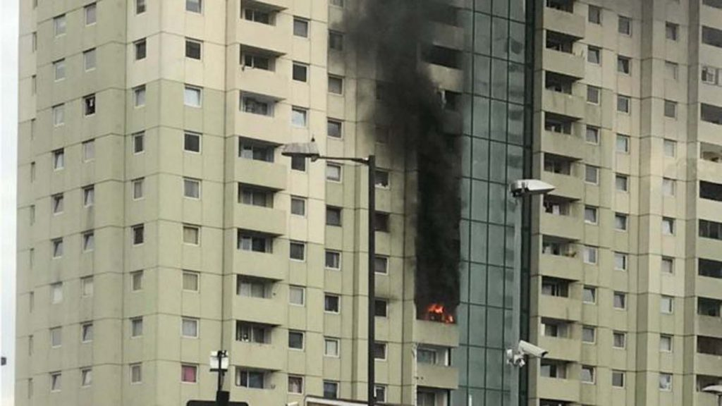 Flat fire occurred in Edmonton