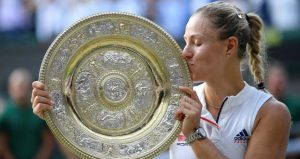 Wimbledon'da şampiyon Angelique Kerber oldu