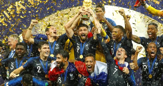 Fransa, Dünya sıralamasında zirveye çıktı