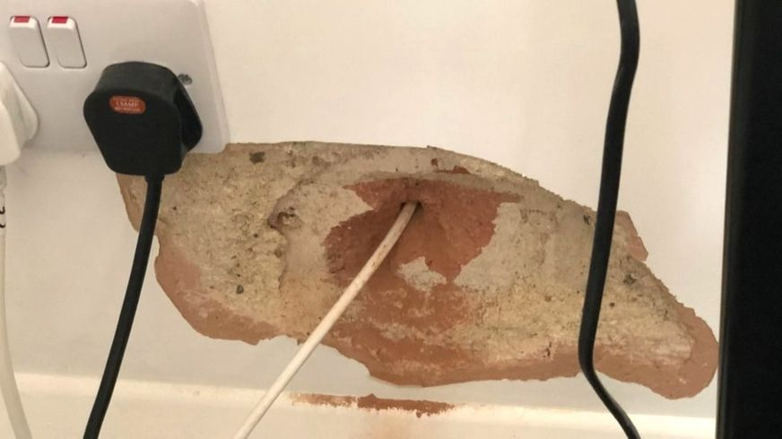 Virgin Media leaves a hole in customer's walls