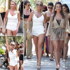 İngiliz ünlü Ibiza'da Türk modacının koleksiyonundan giyindi