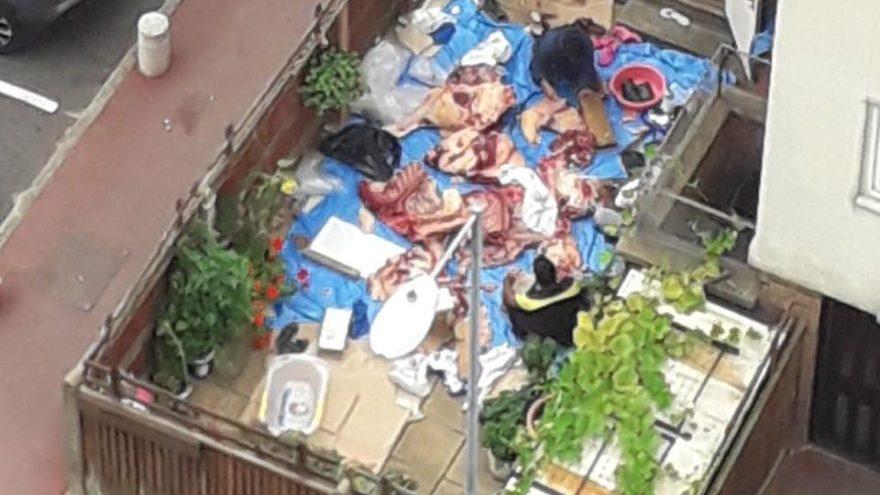 Londra'nın göbeğinde kaçak kurban kesimi ortalığı karıştırdı