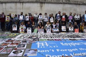 Londra'da Cumartesi Anneleri için destek eylemi gerçekleşti