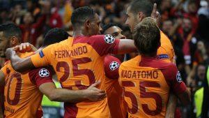 Galatasaray-Lokomotiv Moskova 'yı sahadan sildi: 3-0