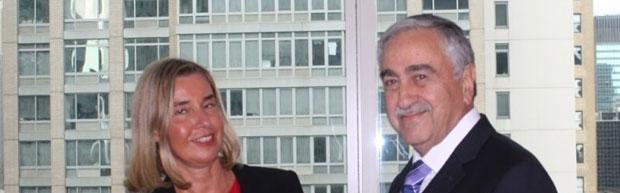 Cumhurbaşkanı Akıncı New York'ta Mogherini'yle görüştü