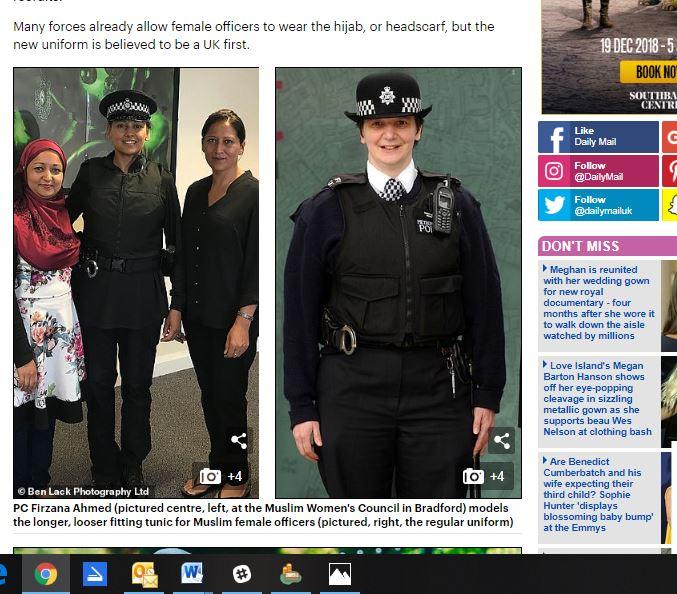 New police inform designed for Muslim women