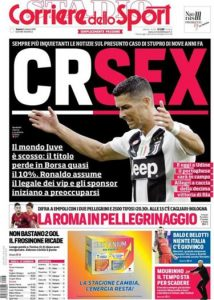 Juventus tecavüz iddialarına karşı Ronaldo'yu savundu