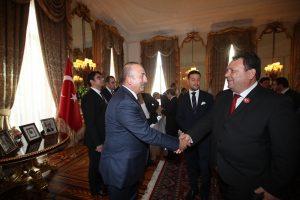 Başkan, Çavuşoğlu'na Federasyonu tanıttı