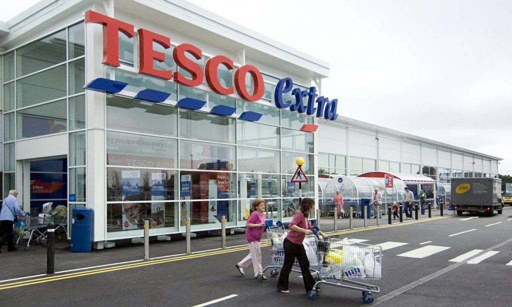 Tesco shares tumbled 8% after weak profits