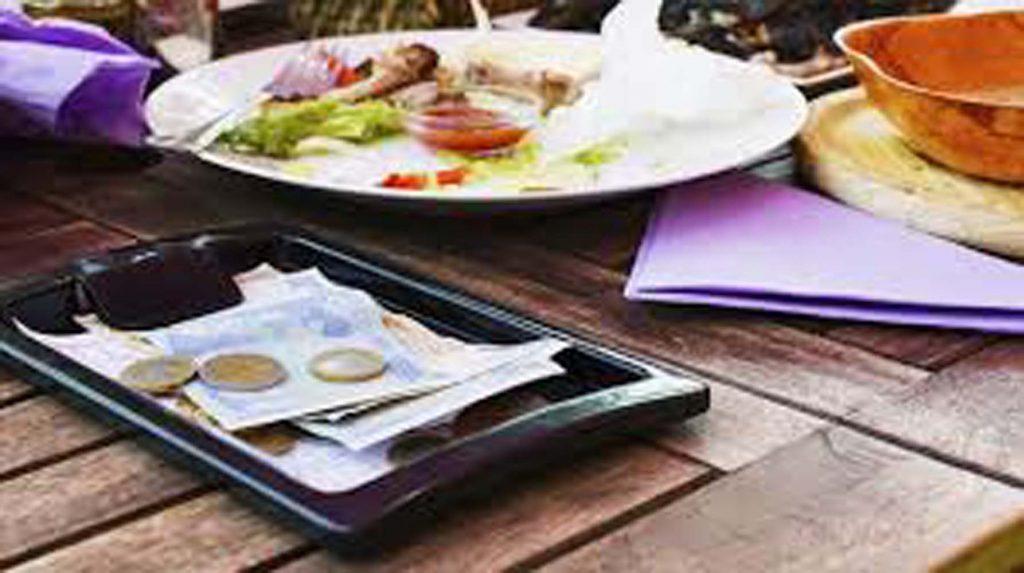 Ban for restaurants taking share of tips