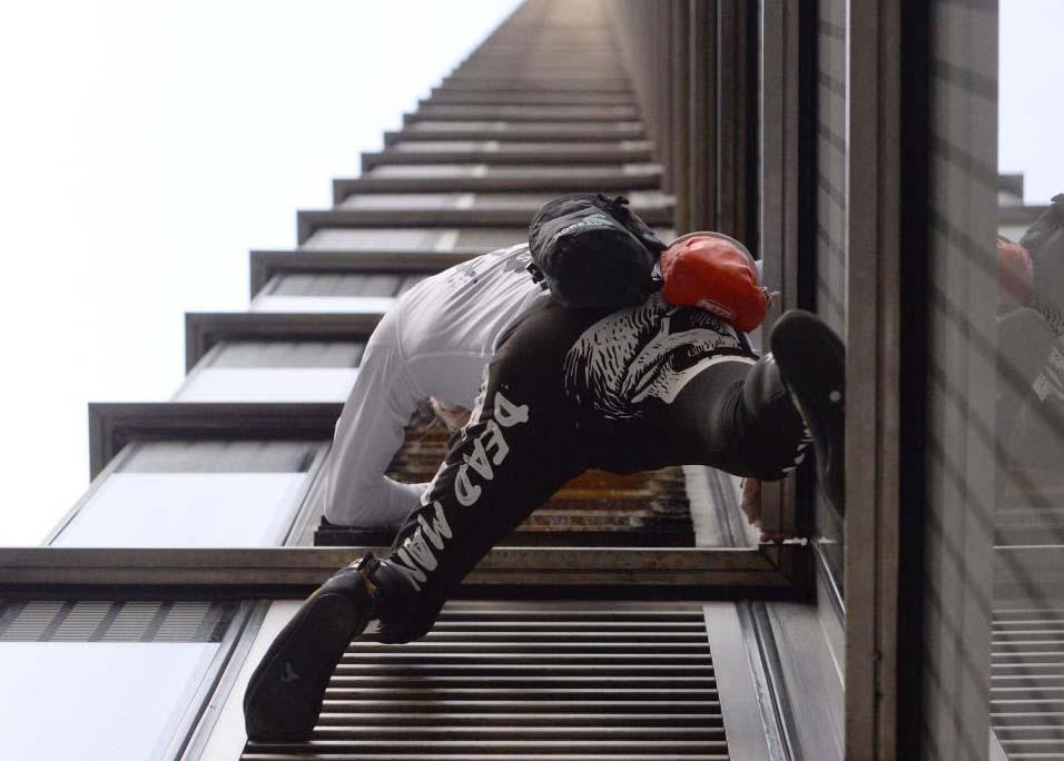 Fransız 'Örümcek Adam' Londra'nın en yüksek binasına tırmandı
