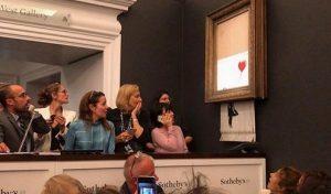 Banksy'nin tablosu satışın ardından kendini yok etti
