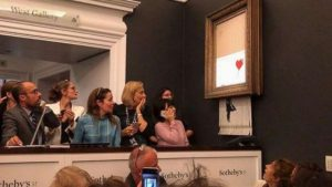 Banksy artwork self-destructs after sold for £1 million