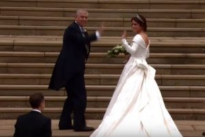 Royal wedding of Princess Eugenie is underway
