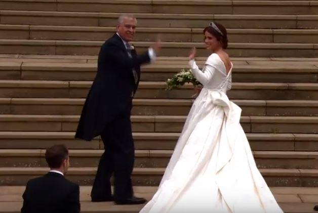 Royal wedding of Princess Eugenie is underway