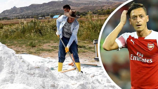 Mesut'un takımı Arsenal'e 500 kilo Kırıkkale tuzu