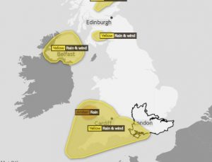 Met Office issues weather warning for weekend