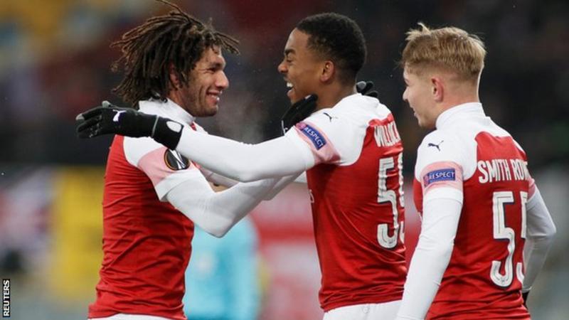 Arsenal, Ukrayna'da 3-0 galip