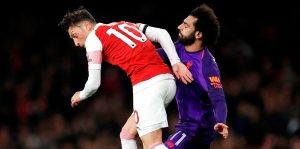 Arsenal-Liverpool maçında birer gol