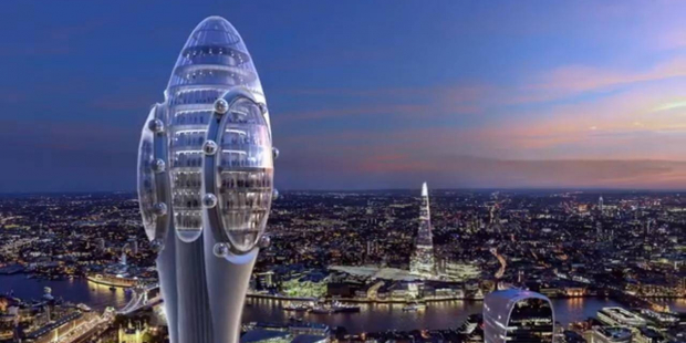 """Londra'ya yapılması planlanan gökdelene """"sperm"""" benzetmesi"""