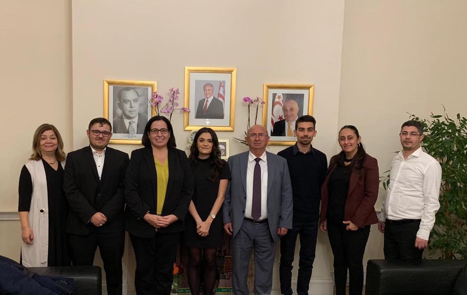 Özyiğit, Kıbrıs Türk Gençlik Birliği İngiltere ile görüştü